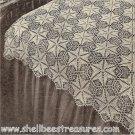 Star Dust Crocheted Bedspread Pattern Vintage 723020