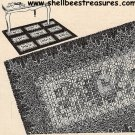 Rug Crocheted Needlepoint Pattern Vintage 723019
