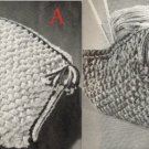 2 Knitted Purses' Handbags' Patterms Vintage 726030