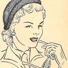 Knitted Cloche-Hat Pattern Vintage 726017
