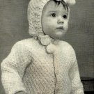 Toddler's Sweater and Hood Knitting Pattern Vintage 726029
