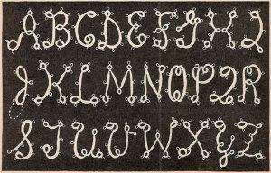 Tatted Initials A thru Z Pattern Vintage 1949 - 729005