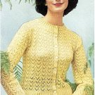 Lady Cardigan - Vintage 1950s Knitting Pattern 726005