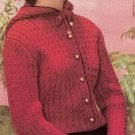Hood Sweater Knitting pattern Vintage - 726003
