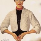 Madison Shrug Sweater Crochet Pattern Vintage 723014