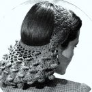 Petal Snood Crochet Pattern Vintage 1944 - 723046