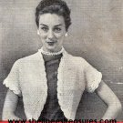 Bolero-Shrug Cover-Up Pattern Knitted Vintage 726019
