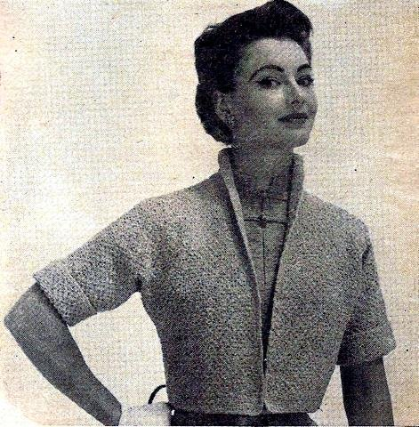 Knit Jacket - Shrug - Sweater Pattern Vintage 726034