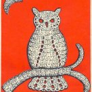 Owl in Crochet Pattern Vintage 723054