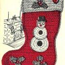 Christmas Stocking Crochet Pattern Vintage 723058