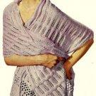 Elegance Stole Knitting Pattern Vintage 726035