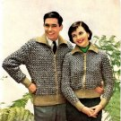 Tweedy Two-Some Knitting Pattern Vintage 726012