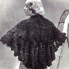 Stunning Lacy Stole - Shawl Vintage Crochet Pattern  723073