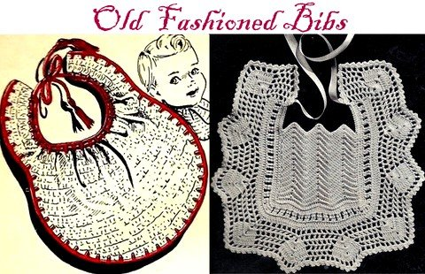 Old Fashioned Crocheted Bibs - 2 Patterns 723074