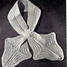 Cats Paw Scarf Crochet Pattern Vintage 723076
