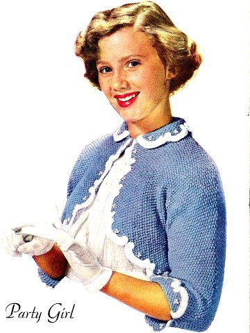 Party Girl Shrug Sweater Knitted Pattern 726050