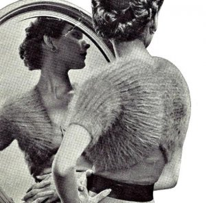 Unique Knitted Shrug Pattern Vintage 726055