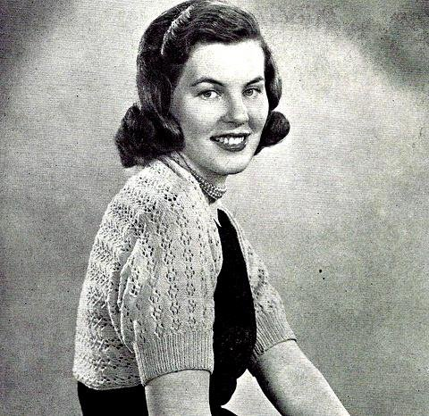 Lacy Shruggy - Sweater Knitting Pattern Vintage 726057