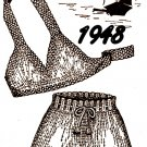 Two Piece Bathing Suit Pattern Knitted - 726013