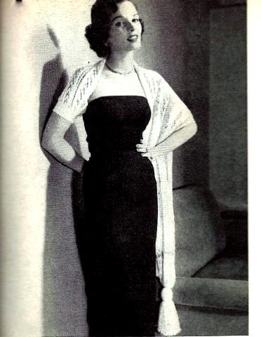 One Arm Stole Knitting Pattern Vintage 726059