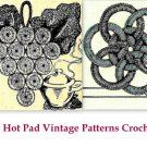 Bottle Cap and Jar Ring Hot Pads Crochet Patterns Vintage 723083