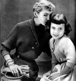 Mother and Daughter Shrugs Sweaters Vintage 726063