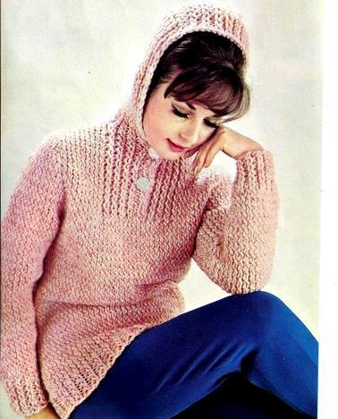Fantastic Sweater with Hood Knitting Pattern 726065