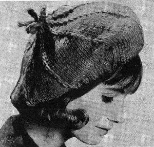 Terrific Hat Beret Knitting Pattern 726067