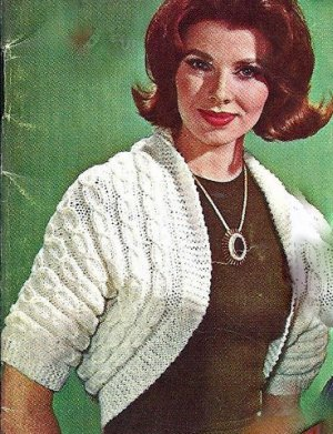 Cable Shrug Pattern Knitted Vintage 726072