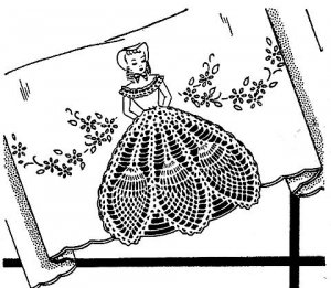 Colonial Girl with Crocheted Skirt Pattern 723100