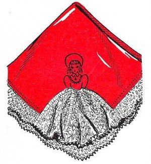 Southern Belle Knitted Handkerchief or Pillow Case Pattern 726075