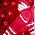 Womens Open Palm Mittens Fingerless gloves Knitting Pattern 726066