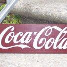 Coca Cola Primitive Rustic Wood Sign - Handmade