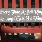 Traditional French Country Shabby Wood Vinyl Sign Plaque - Christmas Holiday Angel Home Decor