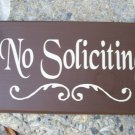 Primitive Country  Brown No Soliciting Wood Vinyl Sign...