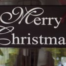 Merry Christmas French Country Accented Wood Vinyl Lettering Sign