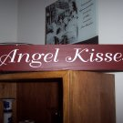 Angel Kisses Primitive Country Red Wood Vinyl Lettering Sign