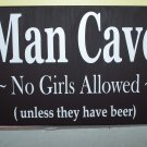 With A Man In Mind - Man Cave Wood Vinyl Sign Home Decor