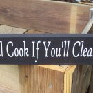 Kitchen Compromise Fun Kitchen Shelf Sitter Wood Vinyl Sign