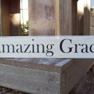Shabby Primitive Country Amazing Grace Wood Vinyl Sign Plaque