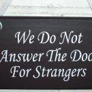 No Soliciting  Child Kid Friendly Wood Vinyl Sign - Door Hanger Home Decor