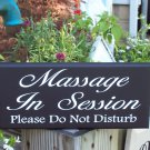 Massage In Session Please Do Not Disturb Wood Vinyl Sign Spa Door Hanger Business Retail Store Shop