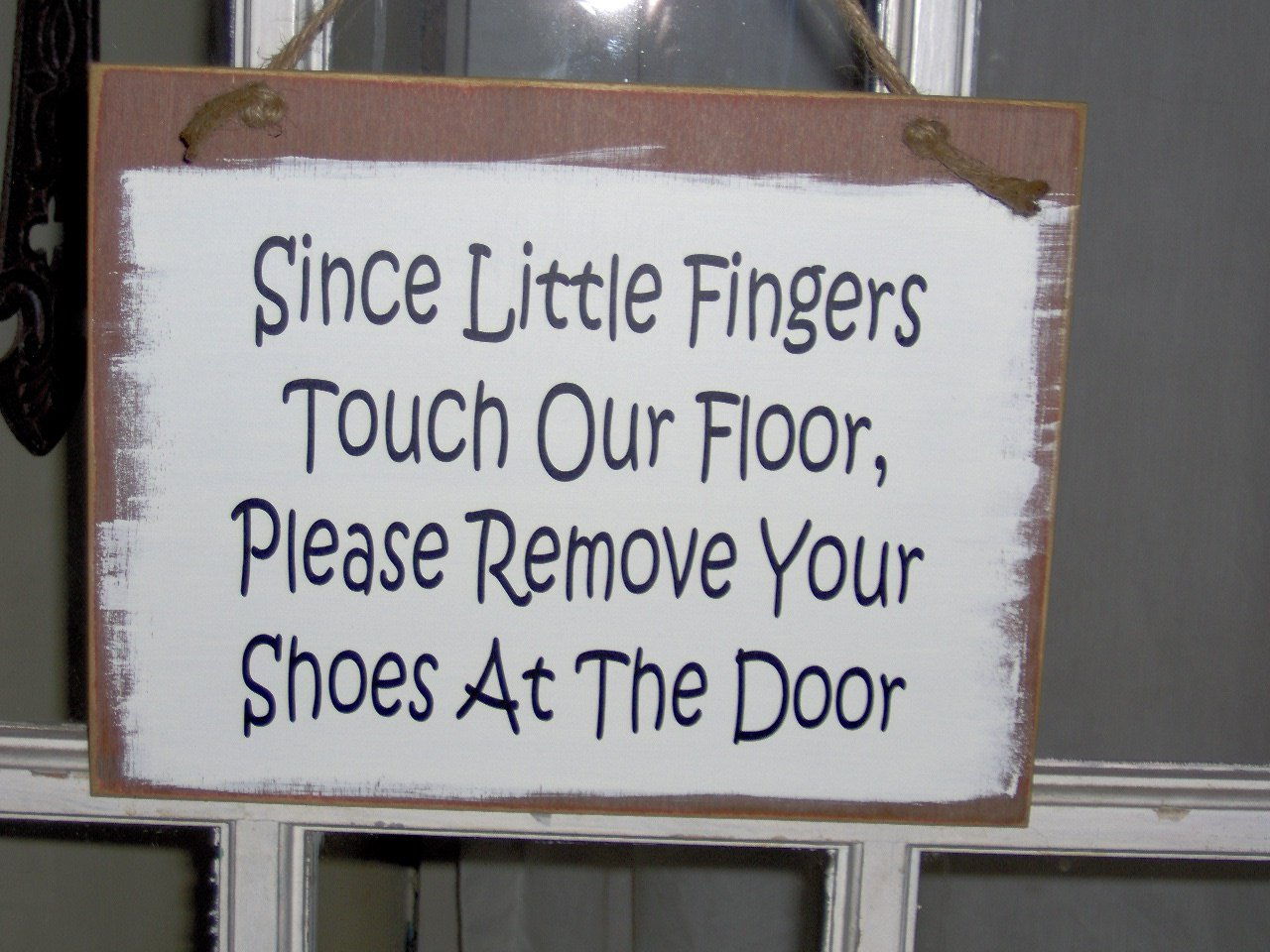 Since Little Finger Touch Our Floor Remove Shoes Wood