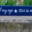 Apple Of My Eye Stars In My Sky Wood Vinyl Sign Blue Kid Bedroom Room Wall Hanging