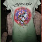 Ed Hardy ~BEAUTIFUL GHOST~ Green Dip Dye Tunic, Size Small, LAST ONE! NWT