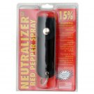 15% Neutrilizer Red Pepper Spray Police Strength Mace With Black or Green Soft Puch Key chain holder