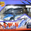 HAWK TALON 3 CHANNEL R/C HELICOPTER In Blue, Red Or Yellow