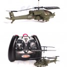 3 CH SYMA S012 R/C HELICOPTER MINI AH-64 APACHE ARMY