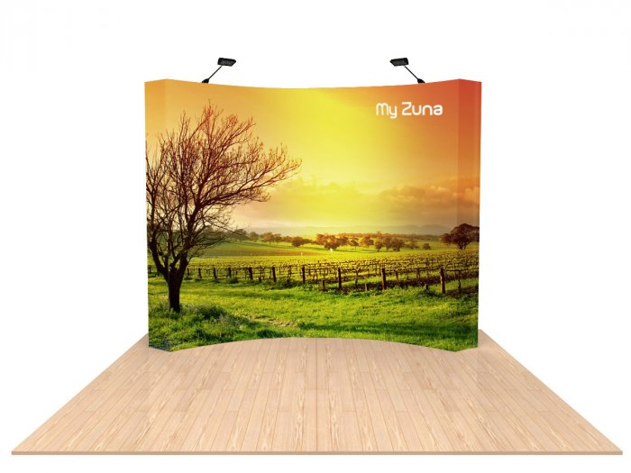 10ft NEW CURVED Fabric Custom Popup Trade Show Booth Display