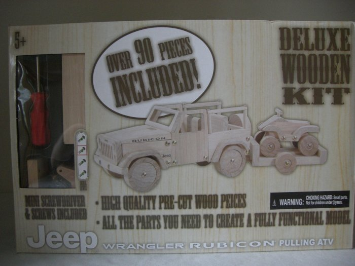 Handcrafted Wooden Jeep Wrangler Rubicon Pulling ATV